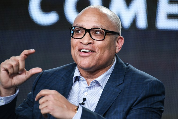 """Larry Wilmore speaks on stage during Comedy Central's """"The Nightly Show with Larry Wilmore"""" panel at the Viacom 2015 Winter TCA on Jan. 10, 2015, in Pasadena, Calif. (Photo by Richard Shotwell/Invision/AP)"""