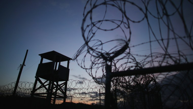 A watch tower is seen in the currently closed Camp X-Ray which was the first detention facility to hold 'enemy combatants' at the U.S. Naval Station on June 27, 2013 in Guantanamo Bay, Cuba. (Joe Raedle/Getty)