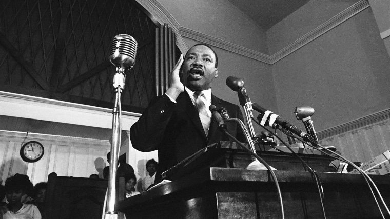 Martin Luther King speaks in Atlanta in 1960. (Photo by AP)