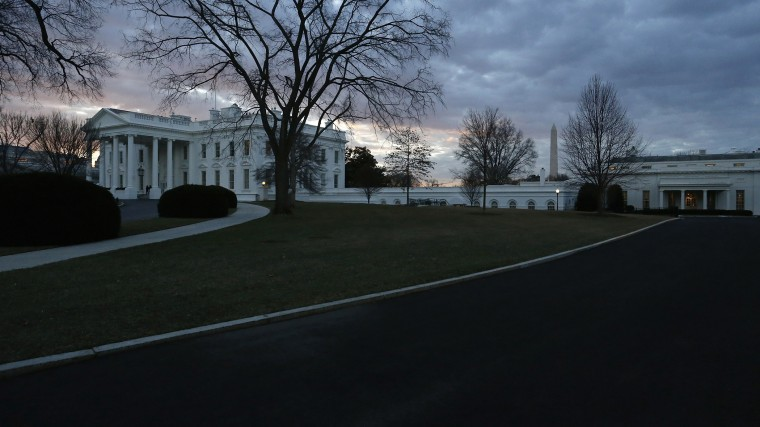 Morning breaks over the White House and the offices of the West Wing (R) in Washington January 20, 2015. (Photo by Jonathan Ernst/Reuters)