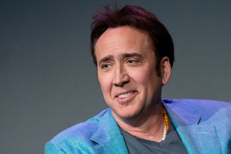 """Actor Nicolas Cage attends """"Meet The Filmmakers"""" at Apple Store Soho on April 10, 2014 in New York City.  (Photo by Noam Galai/WireImage)"""