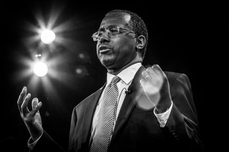 Dr. Ben Carson speaks during the Freedom Summit, Jan. 24, 2015, in Des Moines, Iowa.