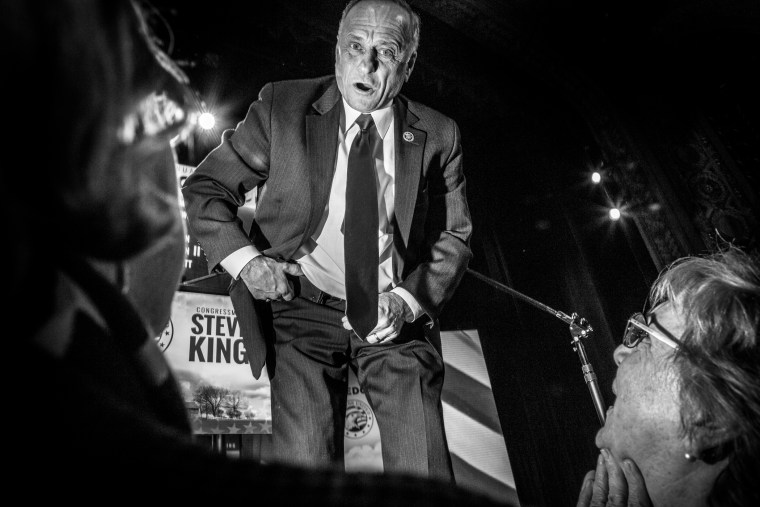 Rep. Steve King, R-Iowa during the Freedom Summit, Jan. 24, 2015, in Des Moines, Iowa.