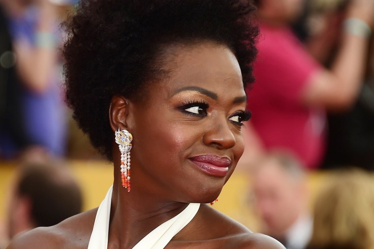 Actress Viola Davis arrives for the 21st Annual Screen Actors Guild Awards on Jan. 25, 2015 at the Shrine Auditorium in Los Angeles, Calif.