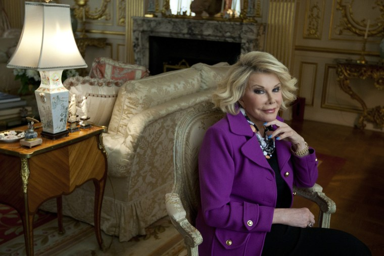 Joan Rivers at her condominium on East 62nd Street in New York, June 5, 2012. (Photo by Ruth Fremson/The New York Times/Redux)