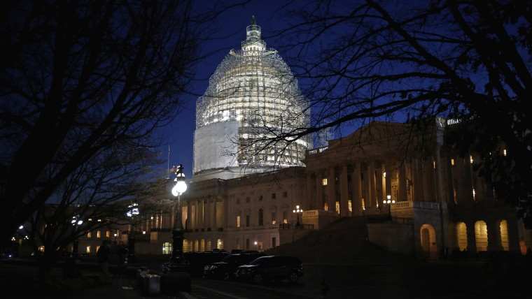 The U.S. Capitol building is seen on January 20, 2015.