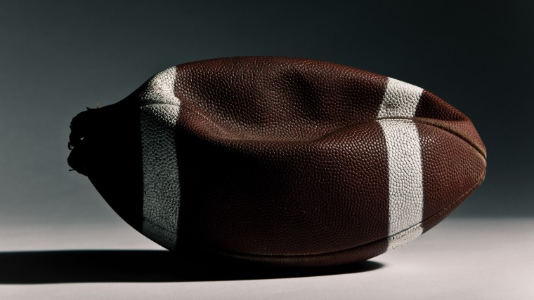 A deflated football. (Photo by Image Source/Getty)