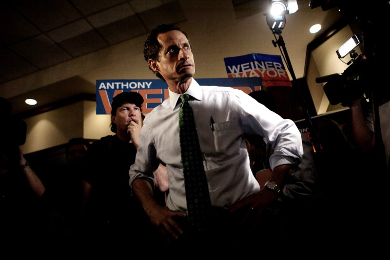 Then-New York mayoral candidate Anthony Weiner attends a campaign event in the Rockaways section in the Queens borough of New York July 31, 2013. (Photo by Eric Thayer/Reuters)