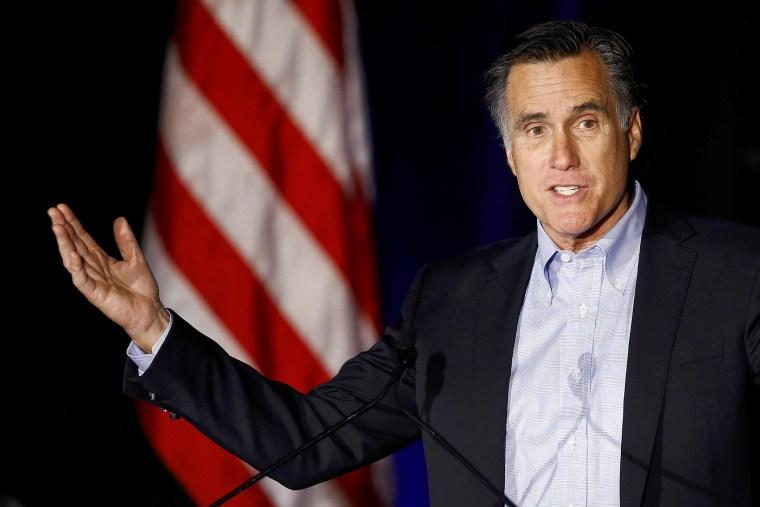 Former presidential candidate Mitt Romney speaks at the Republican National Committee winter meetings in San Diego, Calif. on Jan. 16, 2015.   (Photo by Mike Blake/Reuters)