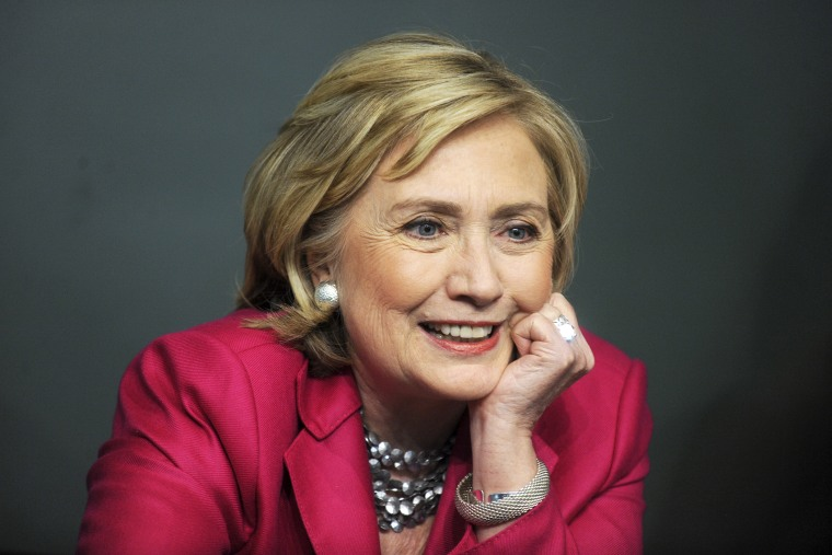 Former Secretary of State Hillary Clinton meets with people during a book signing on June 10, 2014 in New York, N.Y. (Photo by Dennis Van Tine/Geisler-Fotopres/picture-alliance/dpa/AP)