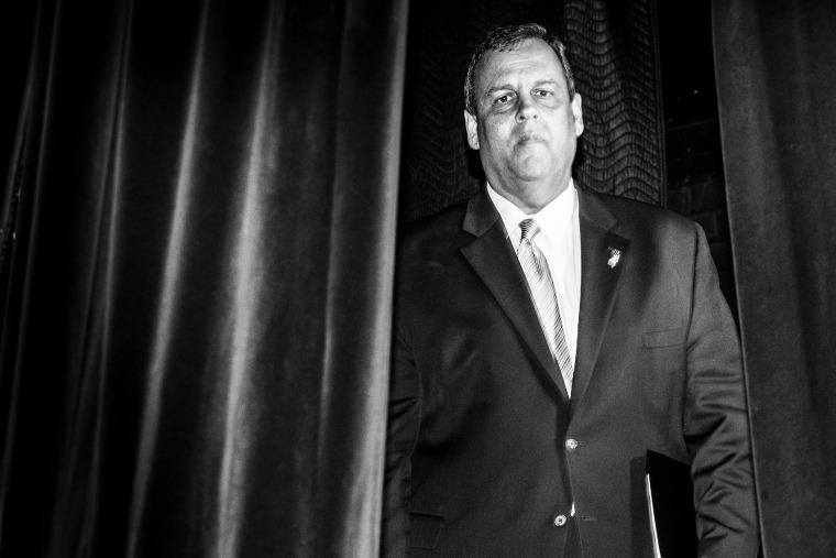 Chris Christie at the Iowa Freedom Summit in Des Moines, Iowa on Jan 24, 2015.