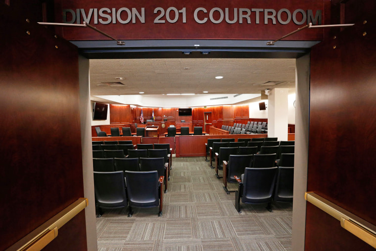 A view inside Courtroom 201, where jury selection in the trial of Aurora movie theater shootings defendant James Holmes is to begin on Jan. 20, 2015 in Centennial, Colo., Jan., 15, 2015. (Photo by Brennan Linsley/Pool/Reuters)