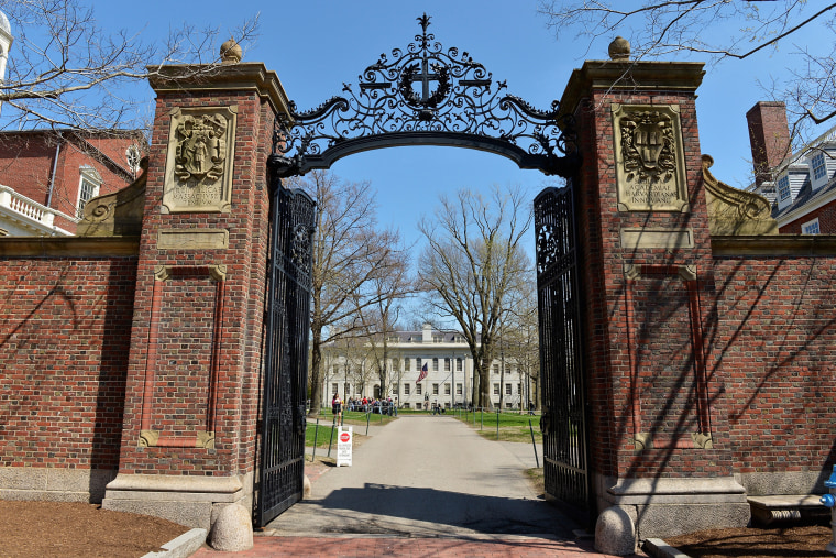 A general view of the gates of Harvard University on April 25, 2013 in Cambridge, Mass. (Photo by Paul Marotta/Getty)