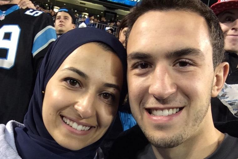 Deah Barakat and and his wife Yusor Mohammad. (Deah Barakat/@arabprodigy30/Twitter)