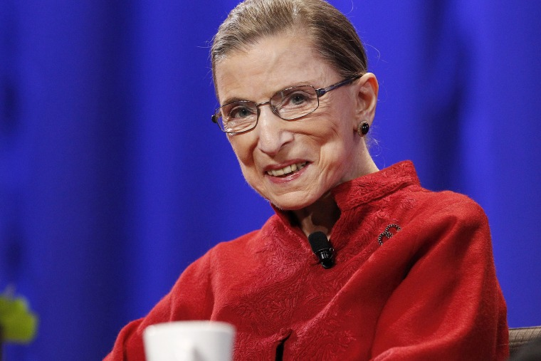 Justice Ruth Bader Ginsburg attends an event in Long Beach, Calif., on Oct. 26, 2010. (Photo by Mario Anzuoni/Reuters)