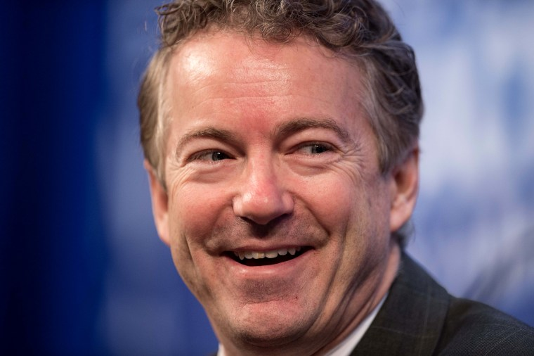 US Republican Senator from Kentucky Rand Paul addresses the 2015 Conservative Policy Summit at the Heritage Foundation in Washington on Jan. 13, 2015. (Photo by Nicholas Kamm/AFP/Getty)