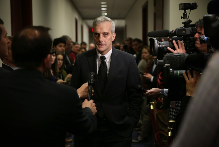 White House Chief of Staff Denis McDonough arrives at a House Democratic Caucus meeting Dec. 11, 2014 on Capitol Hill in Washington, DC. (Photo by Alex Wong/Getty)