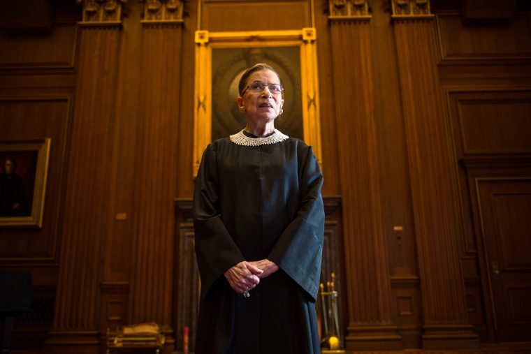 Supreme Court Justice Ruth Bader Ginsburg is photographed in the East conference room at the U.S. Supreme Court in Washington, D.C., on Aug., 30, 2013. (Photo by Nikki Kahn/The Washington Post/Getty)
