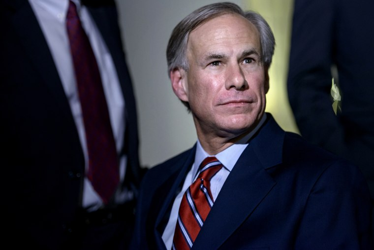 Texas Governor Greg Abbott (R-TX) listens to questions from the press after a meeting at the White House on Dec. 5, 2014 in Washington, DC.