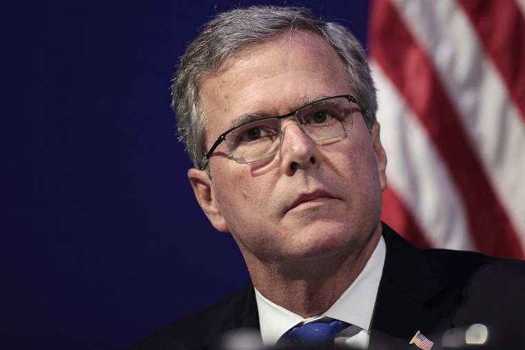 Former Florida Governor Jeb Bush waits to speak at an event in Detroit, Mich., Feb. 4, 2015. (Photo by Rebecca Cook/Reuters)