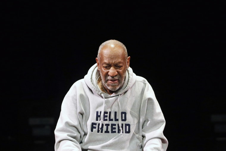 Comedian Bill Cosby performs at the Buell Theater in Denver, Colo., Jan. 17, 2015. (Photo by Brennan Linsley/AP)
