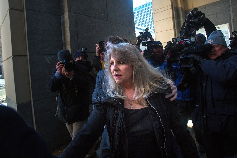 Former Virginia First Lady Maureen McDonnell arrives at federal court for her sentencing in Richmond, Va., Feb. 20, 2015. (Photo by Hyunsoo Leo Kim/The Virginian-Pilot/AP)