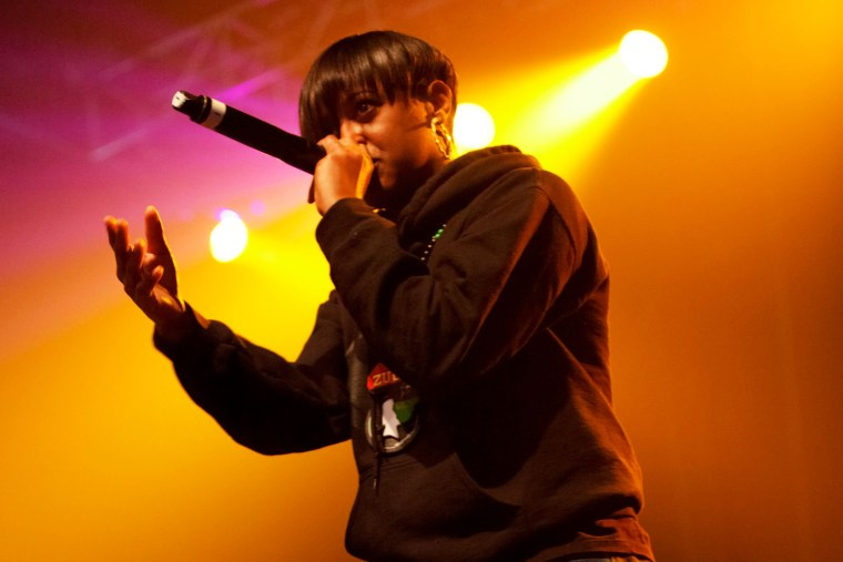 Rapsody performs onstage at the Paid Dues Independent Hip Hop Festival at the NOS Events Center on April 7, 2012 in San Bernardino, Calif. (Photo by Imeh Akpanudosen/Getty)