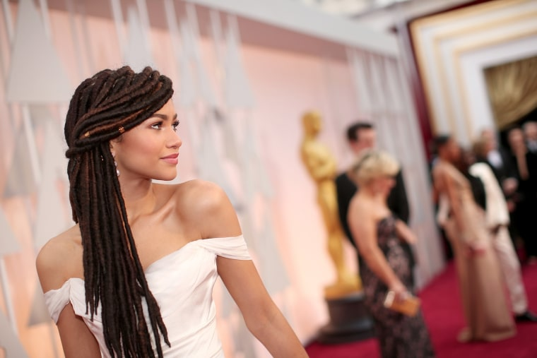 Actress Zendaya attends the 87th Annual Academy Awards at Hollywood & Highland Center on Feb. 22, 2015 in Hollywood, Calif. (Photo by Christopher Polk/Getty)