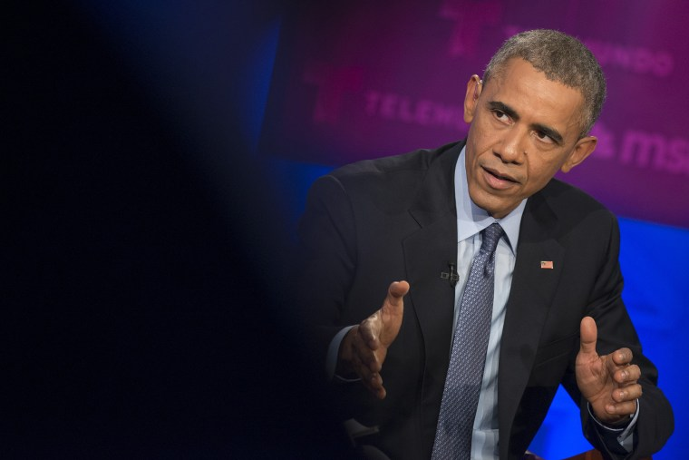 President Barack Obama takes part in a MSNBC town hall event on immigration in Miami, Florida on Feb. 25th, 2015. (Photo by Charles Ommanney for MSNBC)