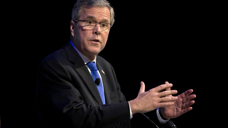 Former Florida Gov. Jeb Bush speaks at an event on Feb. 4, 2015 in Detroit, Mich. (Photo by Paul Sancya/AP)