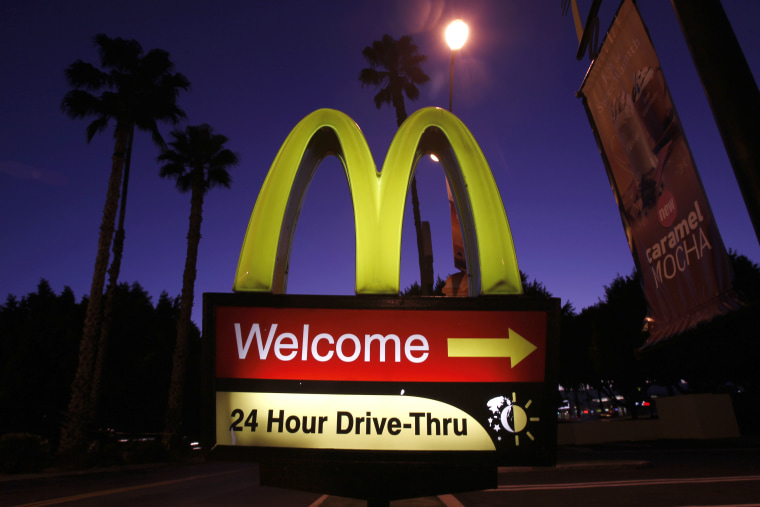 A McDonald's restaurant's drive-thru sign is pictured in Los Angeles, Calif. (Photo by Mario Anzuoni/Reuters)