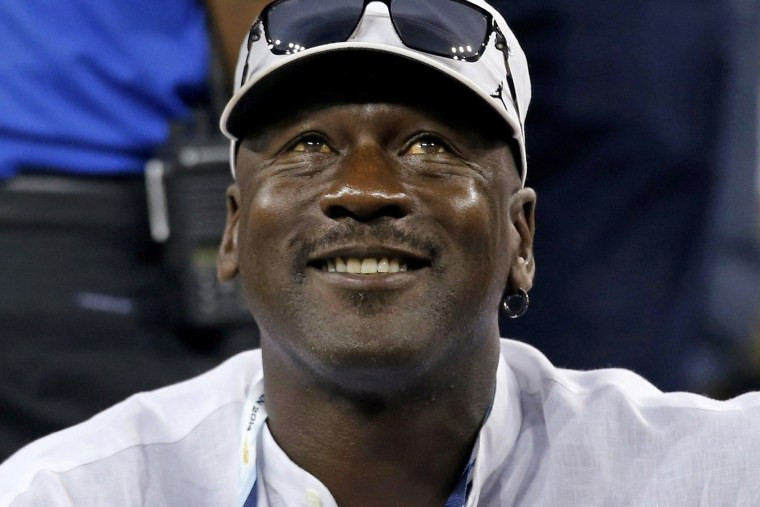 Former basketball great Michael Jordan watches a match at the U.S. Open tennis tournament in New York, in this file photo taken on Aug. 26, 2014. (Photo by Shannon Stapleton/Reuters)