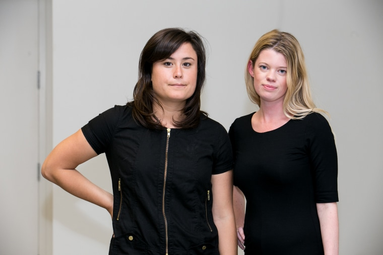 Lauren Mosenthal (left) and Eileen Carey, co-founders of Glassbreakers.