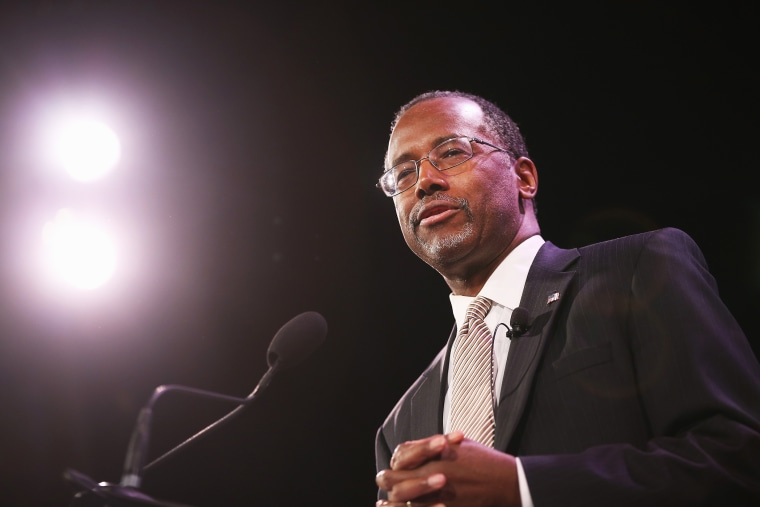 Dr. Ben Carson speaks to guests at the Iowa Freedom Summit on January 24, 2015 in Des Moines, Iowa. (Photo by Scott Olson/Getty)