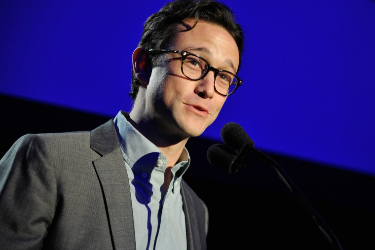 Actor Joseph Gordon-Levitt speaks onstage during an event on April 5, 2014 in Hollywood, Calif. (Photo by John Sciulli/Getty for Motion Picture & Television Fund)