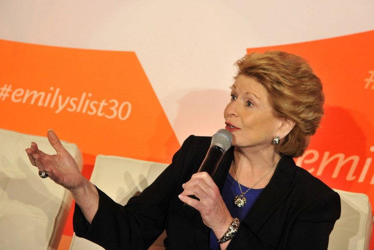 Senator Debbie Stabenow speaks at a panel at EMILY's List 30th Anniversary Gala at Washington Hilton on March 3, 2015 in Washington, DC. (Photo by Kris Connor/Getty for EMILY's List)