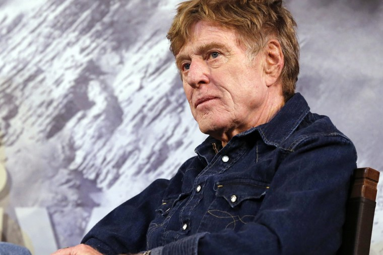 Festival founder and US actor Robert Redford talks to the press to open the 2015 Sundance Film Festival on Jan. 22, 2015.