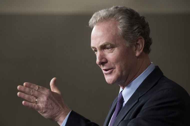 Rep. Chris Van Hollen, D-Md., speaks during a press conference on April 3, 2014 in Washington.