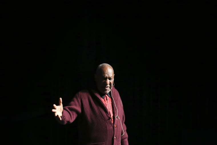 Comedian Bill Cosby performs at an event on Nov. 6, 2013, in New York, N.Y. (Photo by John Minchillo/Invision/AP)