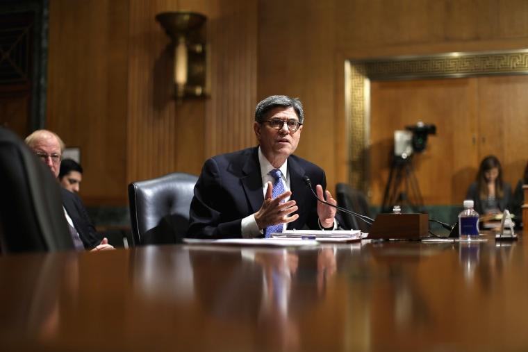 Treasury Secretary Jack Lew testifies on Capitol Hill on Feb. 5, 2015 in Washington, D.C. (Photo by Chip Somodevilla/Getty)