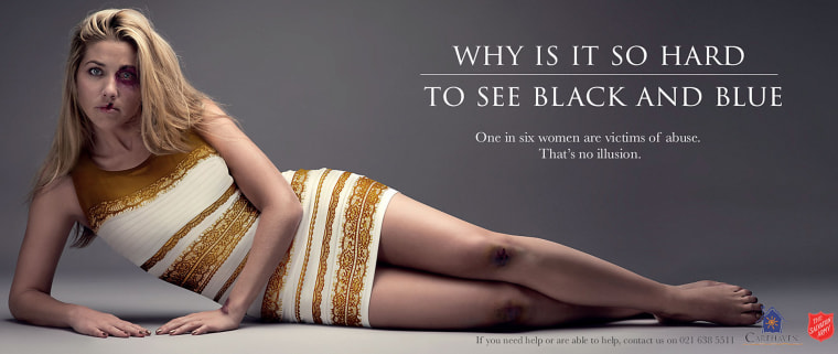 South African Salvation Army 'That Dress' domestic violence campaign, March 6, 2015. (Salvation Army/Rex Features via AP)