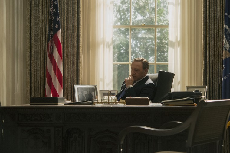 """Kevin Spacey in a scene from Netflix's \""""House of Cards.\"""""""