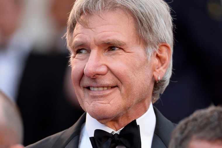"""Harrison Ford attends \""""The Expendables 3\"""" premiere during the 67th Annual Cannes Film Festival on May 18, 2014 in Cannes, France."""