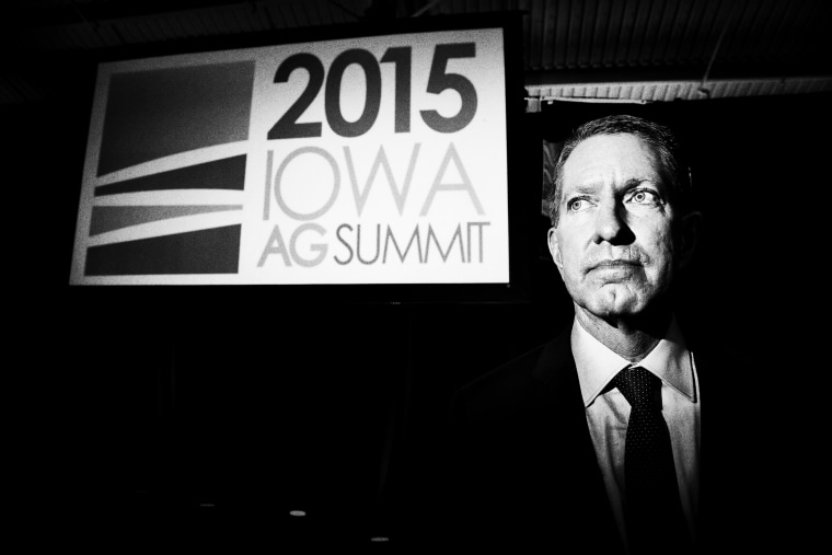 Agriculture entrepreneur,  major Republican donor and host of the Iowa Agriculture Summit, Bruce Rastetter on Saturday March 7, 2015.