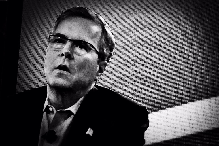 Jeb Bush speaks at the Iowa Agriculture Summit on March 7, 2015 in Des Moines, Iowa. (Photo by Mark Peterson/Redux for MSNBC)