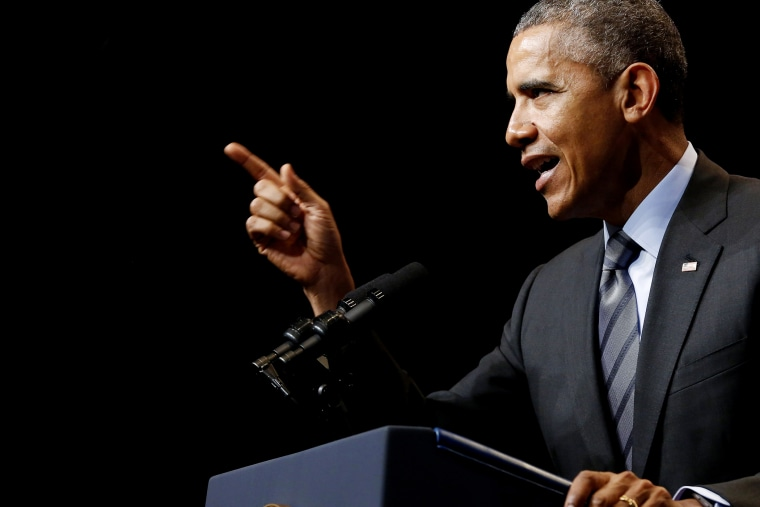 U.S. President Barack Obama delivers remarks at the National League of Cities annual Congressional City Conference in Washington on March 9, 2015. (Photo by Jonathan Ernst/Reuters)