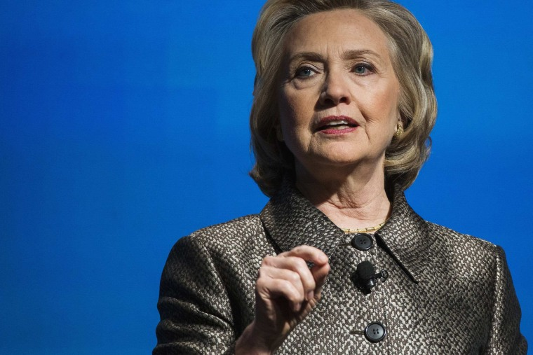 """Former U.S. Secretary of State Hillary Clinton speaks during the unveiling of \""""No Ceilings\"""" and the \""""Not There Yet: A Data Driven Analysis of Gender Equality study\"""" in New York March 9, 2015. (Photo by Lucas Jackson/Reuters)"""