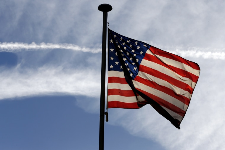 An American flag. (Photo by Thomas Samson/AFP/Getty)