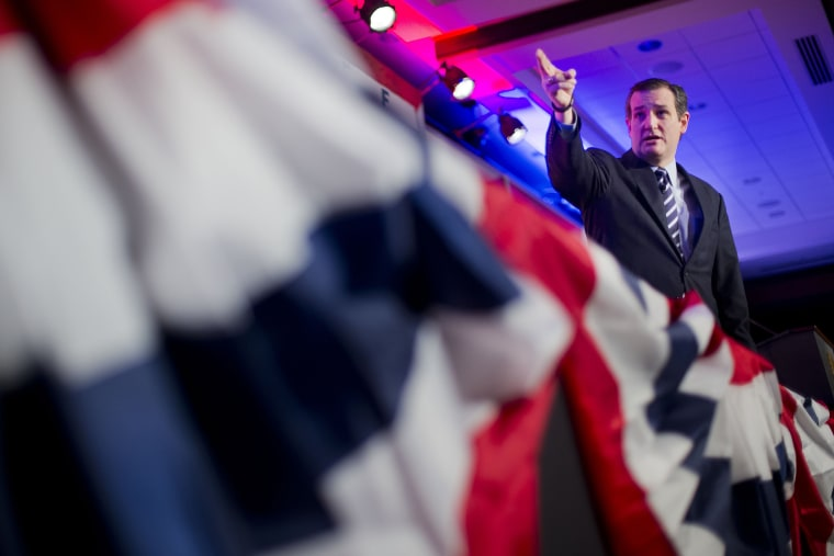 Sen. Ted Cruz, R-Texas speaks at the International Association of Firefighters (IAFF) Legislative Conference and Presidential Forum in Washington, on March 10, 2015. (Photo by Pablo Martinez Monsivais/AP)