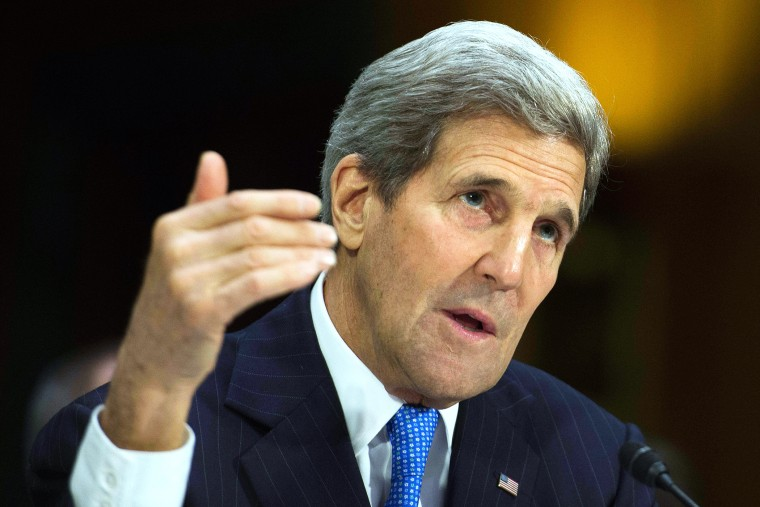 Secretary of State John Kerry testifies before the Senate Foreign Relations Committee in Washington, D.C., March 11, 2015. (Photo by Jim Watson/AFP/Getty)